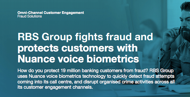 Learn how RBS works with Nuance to prevent fraud in their contact centers.